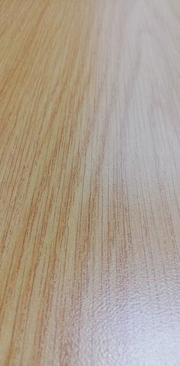 Wooden desk at an angle